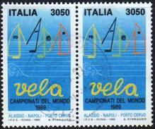 Italy 1989 2 V Used World Championship Sailing