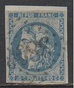 EMISSION DE BORDEAUX / 20 C. BLEU # 46A - TYPE III - REPORT 1 / COTE 80.00 EUROS (ref 7463a)