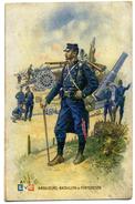 CPA 1915 Artilleurs-bataillon De Forteresse  L V C Al 1 Peintre Léon Hingre Vêtements De Travail A Jacques Molay - Uniformes