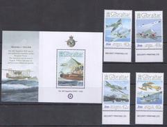 E43 2008 GIBRALTAR AVIATION WWI WORLD WAR 1 ROYAL AIR FORCE 1BL+1SET MNH