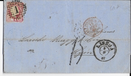 PORTUGAL - 1860 - LETTRE De LISBONNE Avec TIMBRE + TAXE MANU 15 => LYON Avec ENTREE Par ST JEAN DE LUZ - Postmark Collection