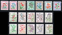 ANDORRE FRANCE Taxe Fleurs N° 46 à 62