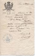 Lettre Du Maire De Sées, 23/6/1940 - Historical Documents