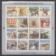 E63 2000 GIBRALTAR HISTORY OF GIBRALTAR MILLENNIUM STAMPS 1SH MNH - History