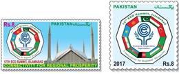 "AFGHANISTAN's Flag On Pakistan ""ECO2017"" 2V. Stamps. MNH - Afghanistan"