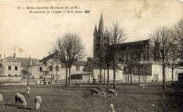 77 BRIE COMTE ROBERT Boulevard De L'Ouest ,moutons  état Moyen - Brie Comte Robert
