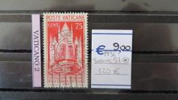 Vatican- Sassone Num. 51 USED