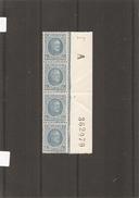 Belgique ( 207 En Bande De 4 XXX -MNH- BDF Numéroté à Voir) - 1922-1927 Houyoux