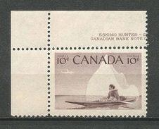 CANADA 1955 N° 278 ** Neuf = MNH Superbe Bateaux Boats Ships Chasseur Kayak