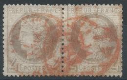 Lot N°35059  Paire Du N°52, Oblit Cachet à Date Des Imprimés ROUGE (78), PP Débordant Du Cercle