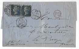 GB - 1862 - LETTRE De HULL => PARIS Avec ENTREE Par AMBULANT CALAIS - Marcofilie