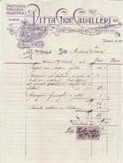 FATTURA 1915 DITTA GIOV.CAVALLERI CON DUE MARCHE DA BOLLO (D86 - Italia