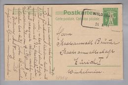 Heimat CH SG Wildhaus 1910-10-24 Aushilfsstempel Auf Ganzsache - Suisse