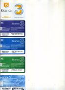 PROMOZIONE LOTTO STOCK 5 SCHEDE TELEFONICHE TRE RICARICA - Italia