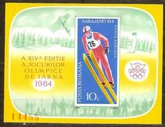 Roumanie Roemenie 1984 Yvertn° Bloc 167A *** MNH Cote 40 Euro  Sport Sarajevo - Blocchi & Foglietti