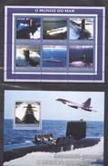 E137 2002 MOCAMBIQUE-CORREIOS SHIPS & BOATS AVIATION KB +BL MNH - Submarines