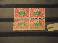 CHARKHARI - VARIETA' 1931 ALBERGO 1 R., Quartina Con I Due Valori In Basso, Con Doppia Dentellatura - NUOVI(++) - Charkhari