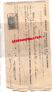BRESIL -PARIS- RECU BANQUE FRANCAISE ET ITALIENNE AMERIQUE SUD- CHEMIN FER NORD SAO PAULO- RESEAU ARARAQUARA- CHINE 1921 - Brésil