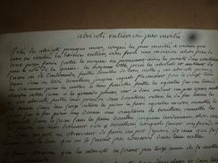 Années 1800 : RECETTE : Abricot Entier Ou Par Moitié - Manuscripts
