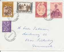 Vatican Cover Sent To Denmark 9-10-1969 (the Cover Is Damaged On The Backside) - Covers & Documents