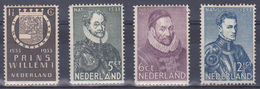 Nederland 1933 Nr 252-255 - Periode 1891-1948 (Wilhelmina)