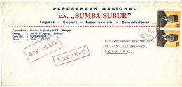 Indonesia Express Air Mail Cover Sent To Denmark 17-11-1978 ?? - Indonesia