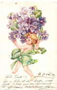 Enfant / Fille / Fleurs / - Scènes & Paysages