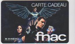 GIFT CARD - FRANCE - FNAC 55 - X-MEN - CINEMA - MOVIE - Cartes Cadeaux
