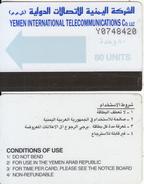 YEMEN - Autelca Blue Arrow 80 Units, CN : Y + 7 Digits, Used