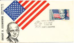 Uruguay FDC 14-7-1970 Dwight D. Eisenhower With Nice Cachet - Uruguay