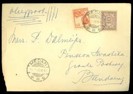 Luchtpost NEDERLANDS INDIE * BRIEFOMSLAG Uit 1932 Gelopen Van MEDAN Naar BANDUNG  (10.615b) - Niederländisch-Indien