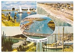 L'aiguillon-la Faute Sur Mer(85)vues Aeriennes-le Port,la Plage-le Lac Et L'ecole De Voile-le-baie De La Belle Henriette - Other Municipalities