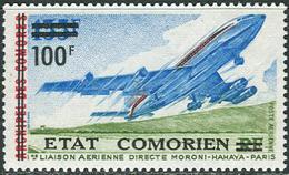 Comores 1975. Michel #240 MNH/Luxe. 1. Direct Flight Connection Moroni-Hahaya-Paris. (Ts27) - Comoros