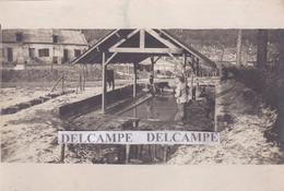 TRACY LE VAL Guerre 14 / 18 - Photo Originale De La Ferme Brimont, Soldats Au Lavoir ( Oise ) - Plaatsen