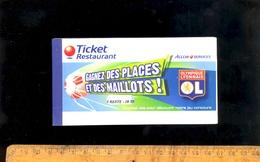 Carnet De 17 Chèques Ticket Restaurant Accor Credit Lyonnais 2006 / Jeu OL Olympique Lyonnais Foot - Chèques & Chèques De Voyage