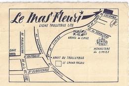 """""""LE MAS FLEURI""""  Hotel Pension   AVENUE DE FLIREY NICE - Visitekaartjes"""