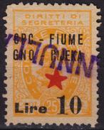 1945 - Istria Istra / Rijeka Fiume - Yugoslavia Occupation - Revenue Stamp - Overprint