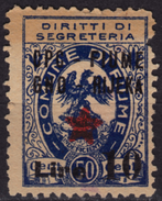 1945 - Istria Istra / Rijeka Fiume - Yugoslavia Occupation - Revenue Stamp - Overprint - Occup. Iugoslava: Fiume