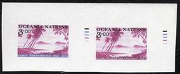 Oceania Post Proof Pairs. - New Zealand