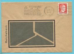 Duitse Postzegel Op Brief Met Stempel LUXEMBOURG Op 2/9/43 - 1940-1944 German Occupation