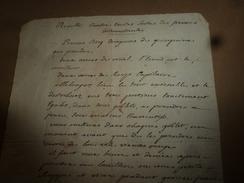 Avant L'année  1800 : RECETTES Contre Toutes Sortes De FIEVRES INTERMITTENTES , Pas Besoin De Saignées - Manuscripts