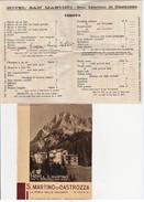 HOTEL S,MARTINO DI CASTROZZA PRIMI 900 (D148 - Timbri Generalità
