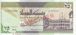 SUDAN 25 DINARS 1992 P-53s SPECIMEN TYPE B SIGNATURE UNC */* - Soudan