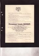 CHATELINEAU DAMPREMY Louis ROISIN Ingénieur 1865-1934 Administrateur Charbonnages De Sacré-Madame Association Charbon - Décès