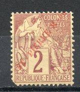 Saint PIERRE Et MIQUELON (Iles D'Amérique Centrale) - 1891 - N° 19- 2 C. Lilas-brun - St.Pierre & Miquelon