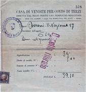 AGGIUDICAZIONE ASTA CASA DI VENDITE PER CONTO TERZI ROMA 1932 CON MARCA DA BOLLO (D188 - Italia