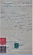 FATTURA 1933 CASA PETRARCA CON MARCA DA BOLLO E IMPOSTE DEL COMUNE DI VENEZIA (D192 - Italia