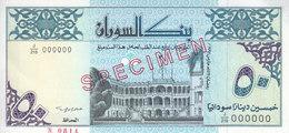 SUDAN 50 DINARS 1992 P-54b SPECIMEN SIGNATURE TYPE B UNC */* - Soudan