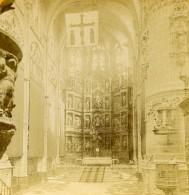 Espagne Burgos Cathedrale Interieur Nef Et Maitre Autel Ancienne Photo Stereo 1888 - Stereoscopic