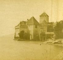 Suisse Lac Léman Château De Chillon Ancienne Photo Stereo 1875 - Fotos Estereoscópicas